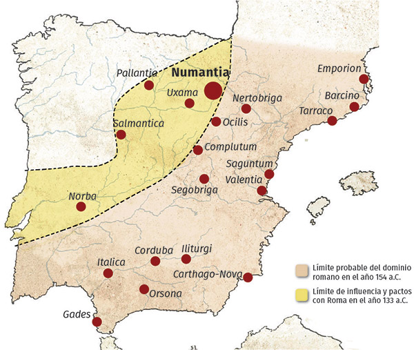 Phases of the conquest of the Meseta